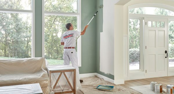 Professional Painter working on interior