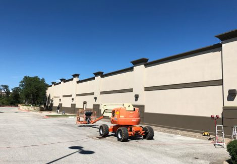 Exterior Commercial Painting, Beige and Black