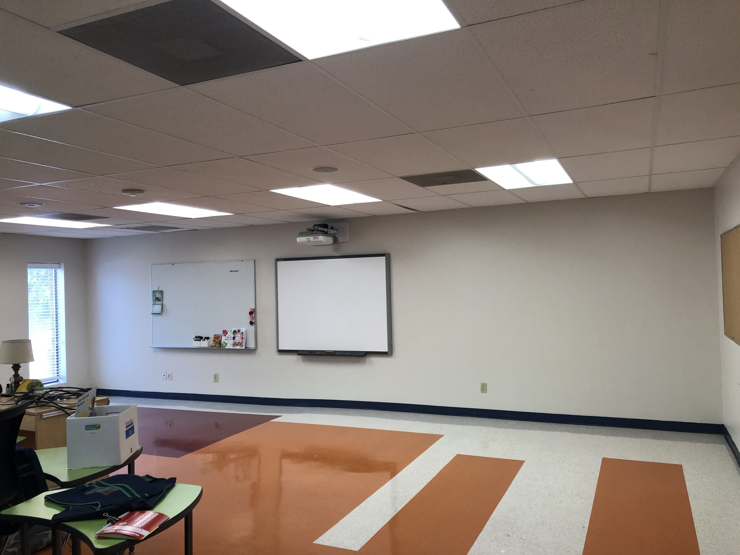 Private School Classroom after painting