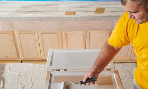cabinet staining by certapro painters of northwest florida