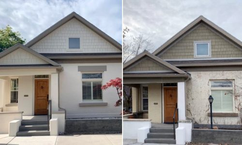 Exterior Painting Before and After