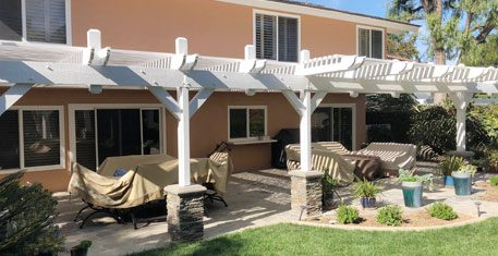Backyard Pergola Painting Project